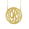 Interlocking Circle Monogram Necklace