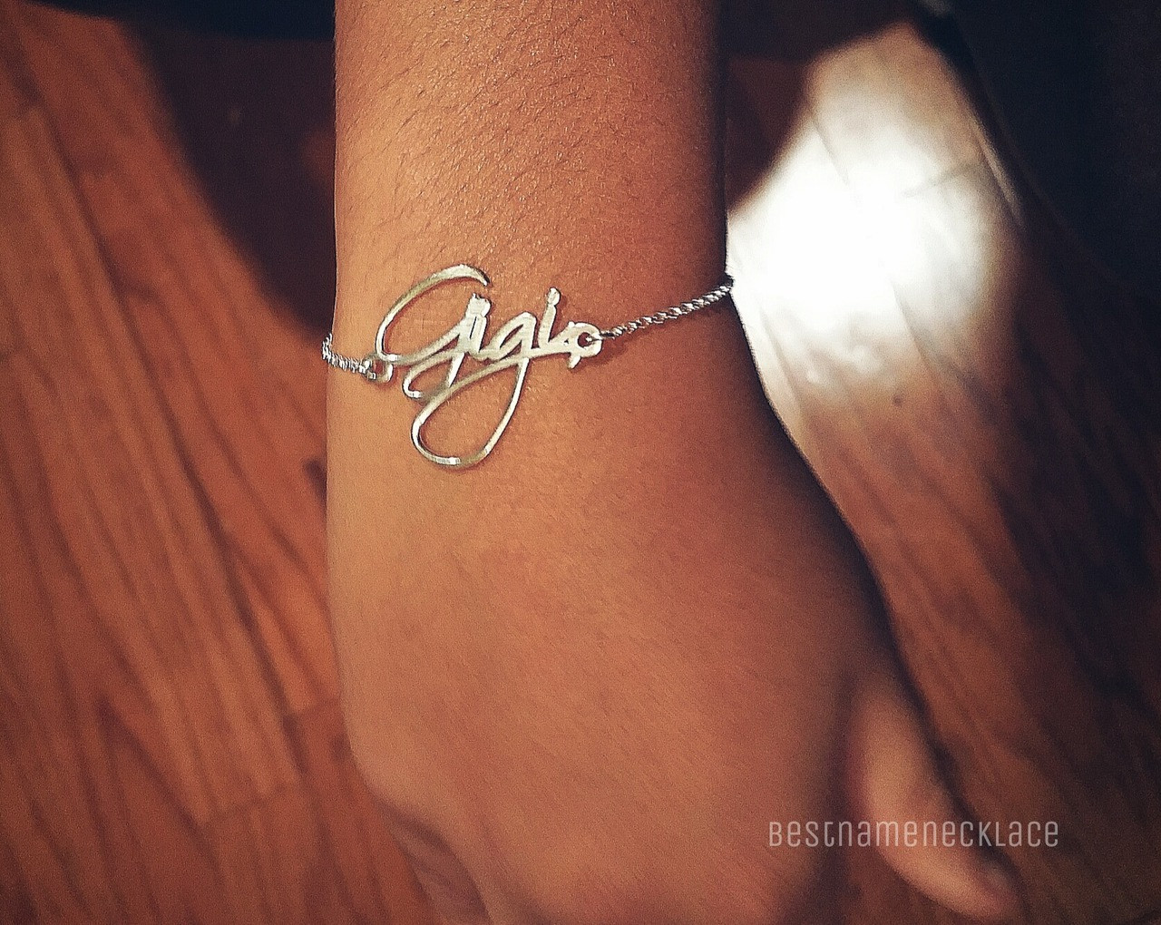 b911e31167e3f Free Hand Personalized Name Bracelet
