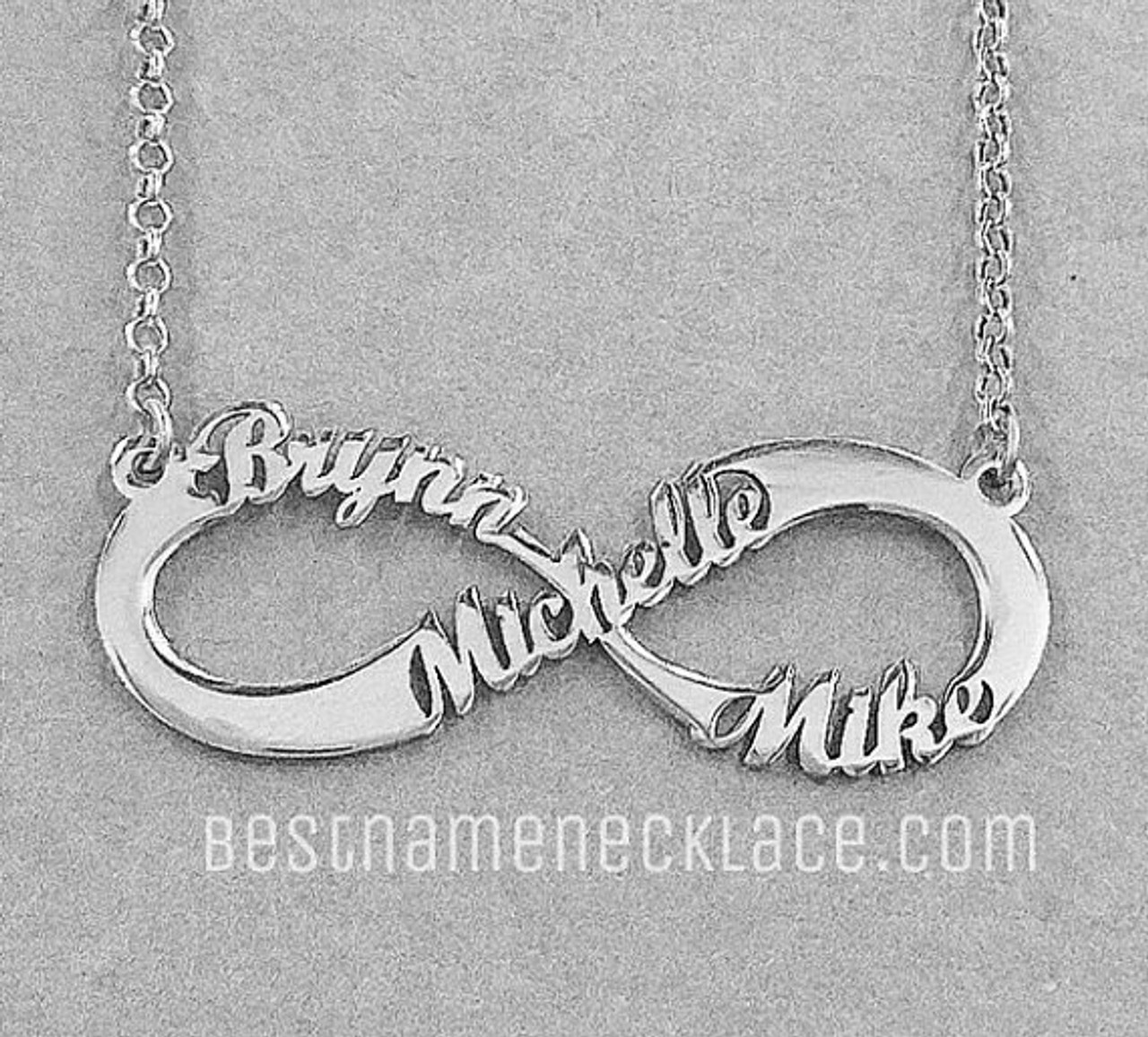 d4aa28f7c93a9 1 to 3 Name Infinity Necklace