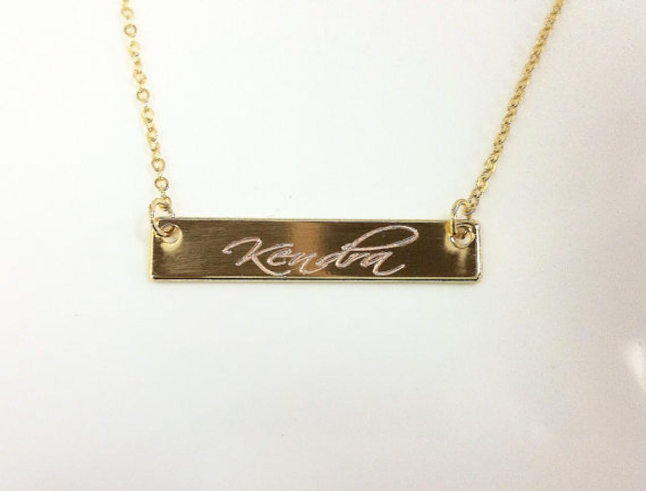 129c0d513 Gold Bar Necklace    BestNameNecklace