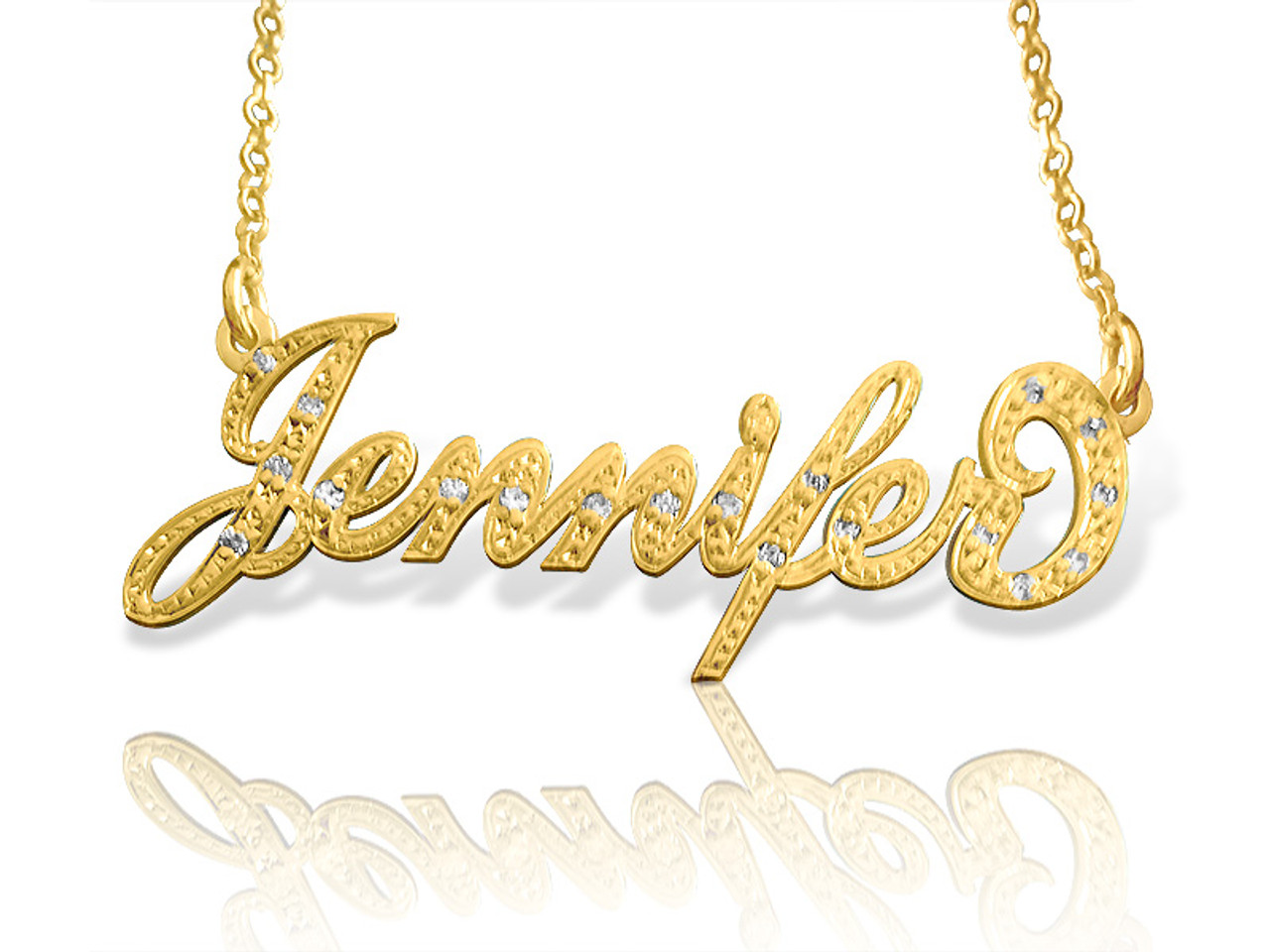 59b94e6b181a18 Carrie Style Name Necklace with Diamonds in gold