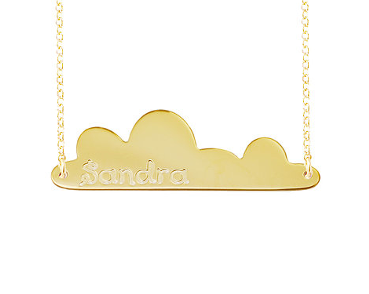 Engraved Nameplate Bar Necklace Niebla Style