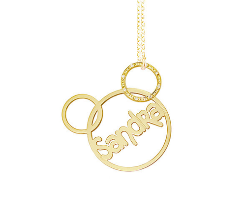 Personalized Name Necklace Sandra Style