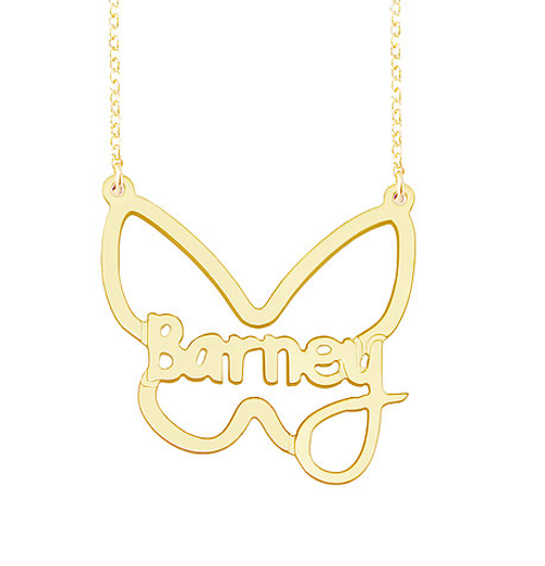 Personalized Name Necklace Barney Style