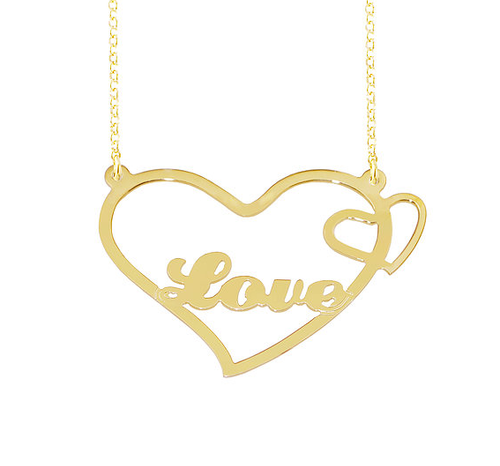 Personalized Name Necklace Love Pendant Style