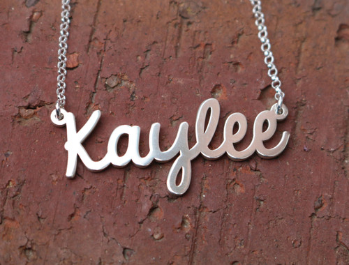Personalized  Silver Name Necklace My Style