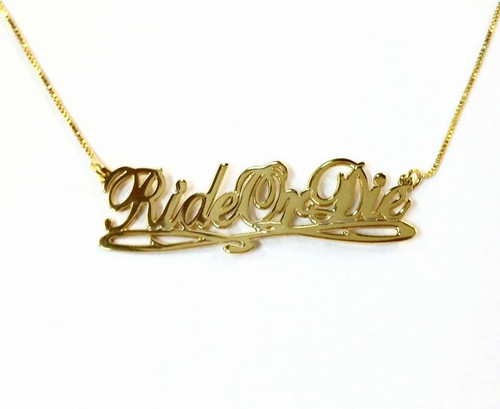 Ride Or Die Necklace, Rideordie,