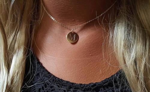 Mini Initial Monogram Necklace