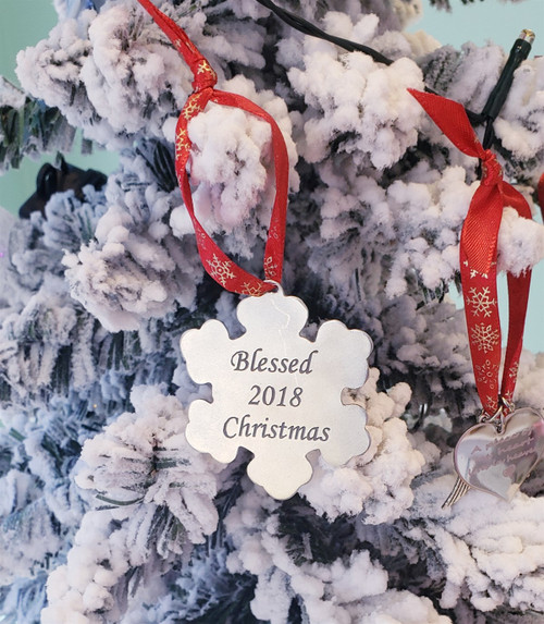 Personalized Snowflake Ornament for Christmas Tree