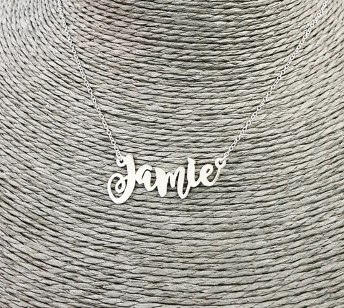 Jamie Swirly Name Nekclace