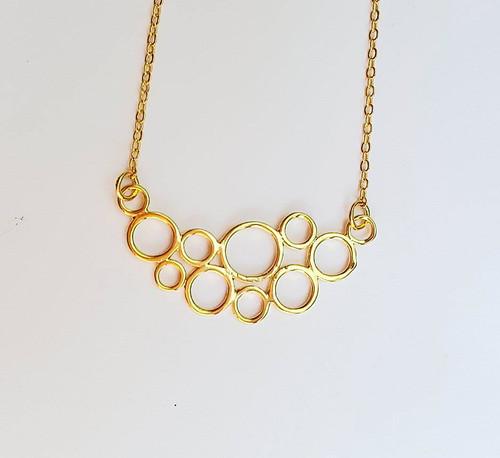 Circle Mesh Layering Necklace