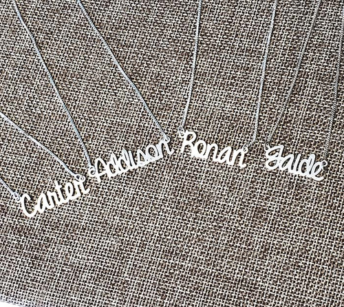 Personalized  Calligraphy Name Necklace
