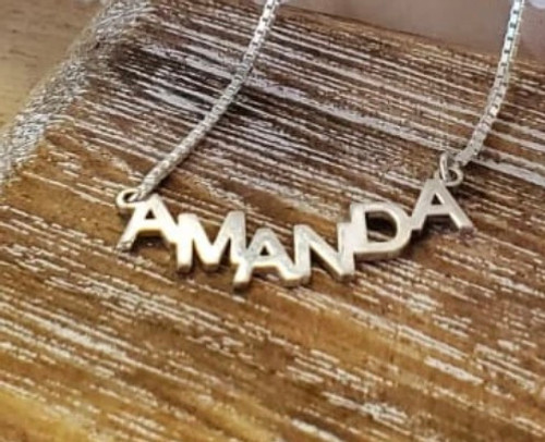 Personalized  Crescent Name Necklace