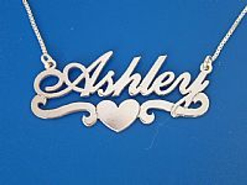 Ashley Style Name Necklace, Personalized Name Necklace, Silver Name Necklace, Nameplate necklace, name on chain