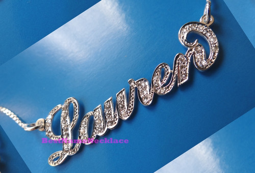 Carrie Diamond Name Necklace Personalized with your name