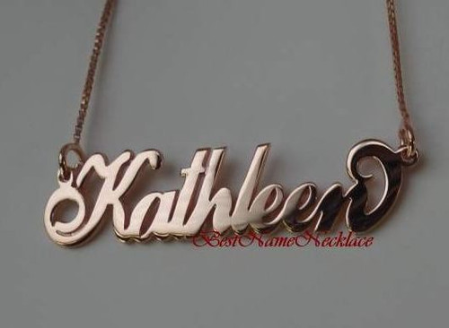 Carrie Rose Gold Plated Personalized Name Necklace