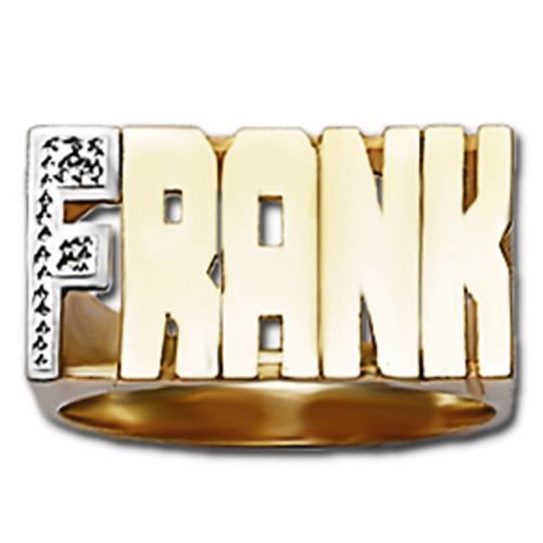 12 mm Diamond Name Ring Frank Style
