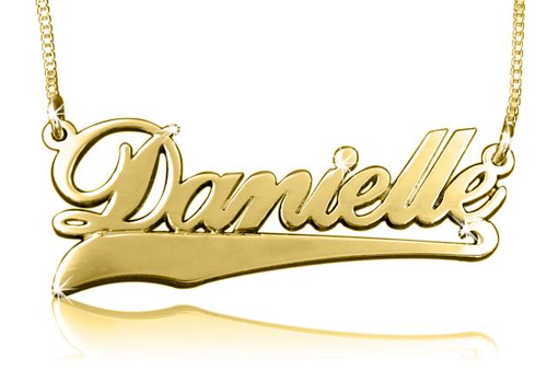 Gold Name Necklace Danielle