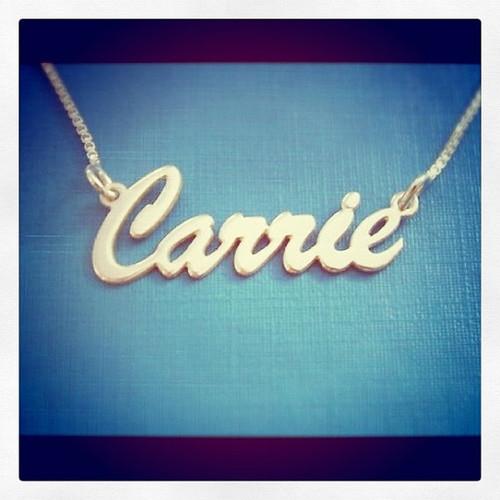Soho or Brush Style Silver Name Necklace