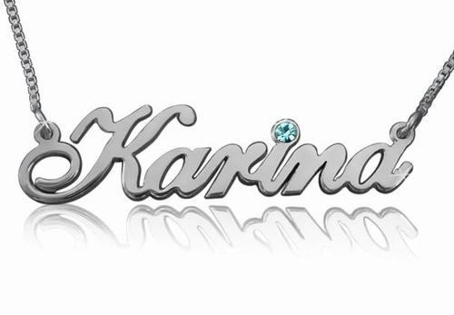 Karina Name Necklace with Swarovski