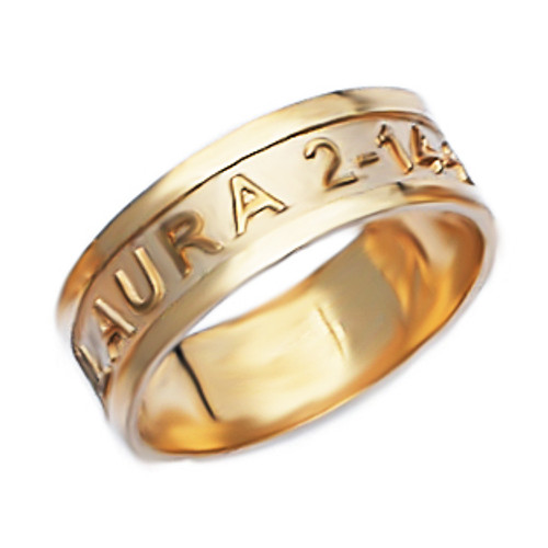 Personalized Name Ring pcr027
