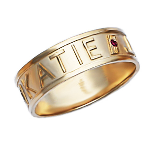Personalized Name Ring pcr047