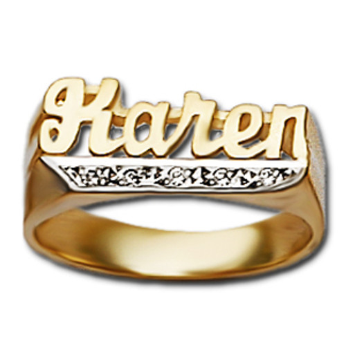 Personalized Diamond Name Ring R825