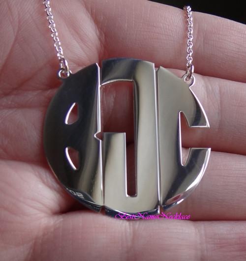 Monogram Necklace Block Style