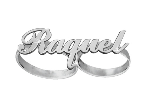 Two Finger Name Ring Raquel Style