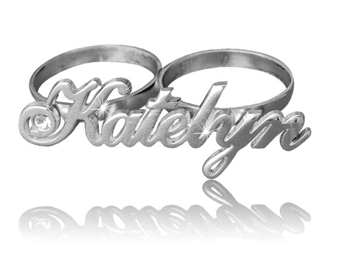 Two Finger Ring Name Katelyn Style