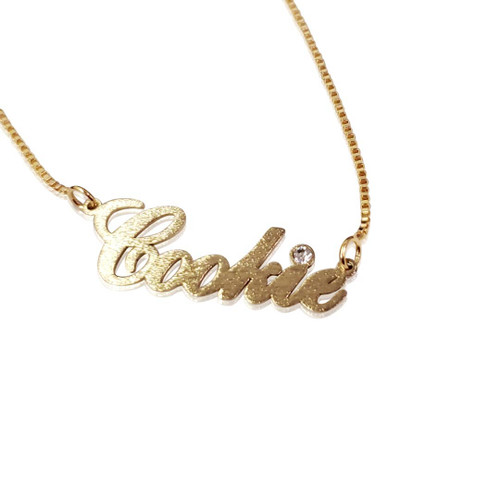 Cookie Name Necklace as seen on Cookie