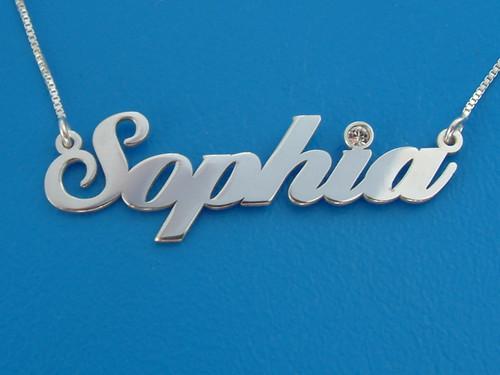 Sophia Valentines Name Necklace with Swarovski