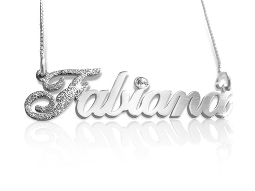 First Letter Sparkling Name Necklace