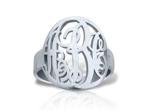 Monogram Ring with Circle Prep Style