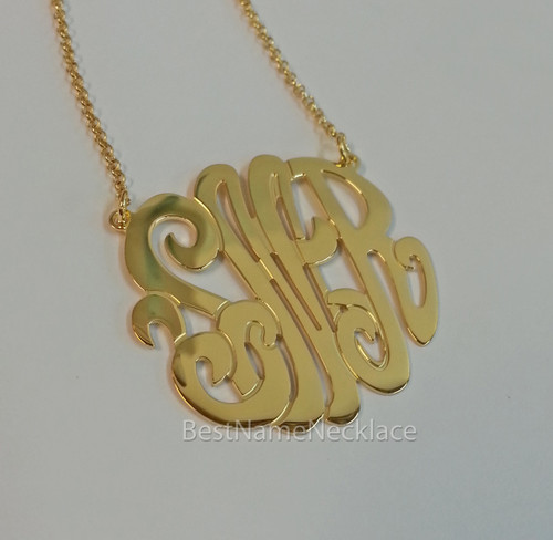 Solid 14k Gold Interlocking Monogram