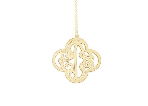 Cross Monogram Necklace