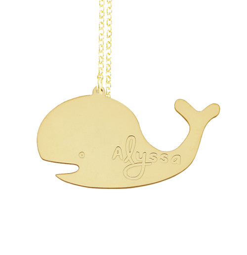 Engraved Whale Pendant
