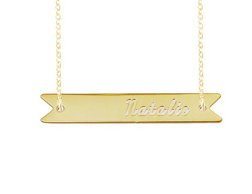 Contigo Engraved Nameplate Necklace
