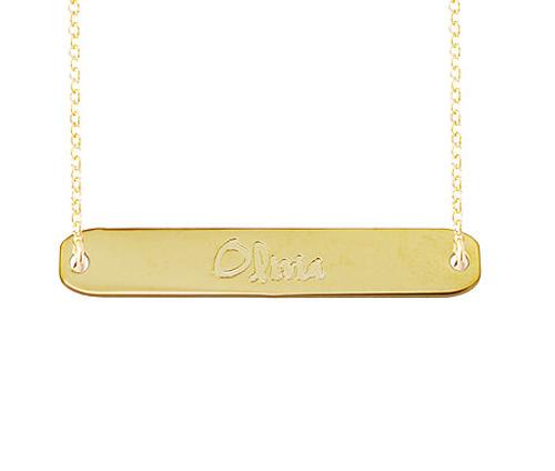 Georgia Engraved Name Necklace