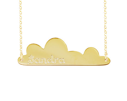 Personalized Bar Necklace Niebla Style