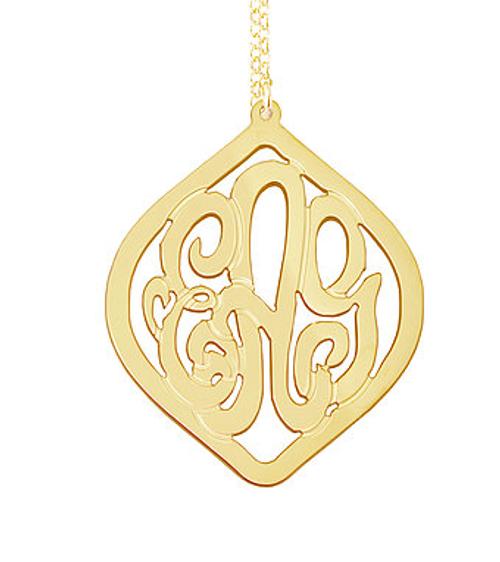 Lagrima Monogram Necklace