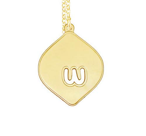 Diamante Initial Pendant Necklace