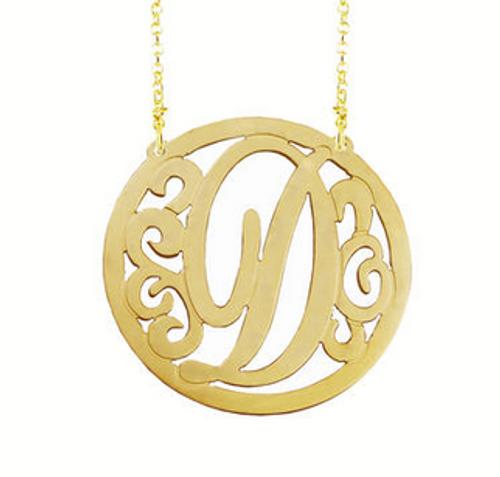 Circle Monogram Necklace
