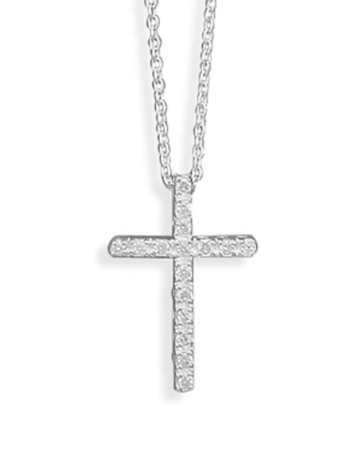 Cross Necklace Pendant Covered in CZ Crystals