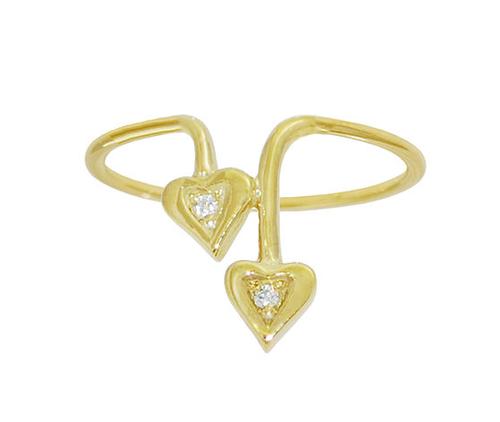 Drop Leaf Birthstone Ring
