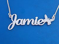eecf08557 Name Necklace Jamie Style with Butterfly || BestNameNecklace