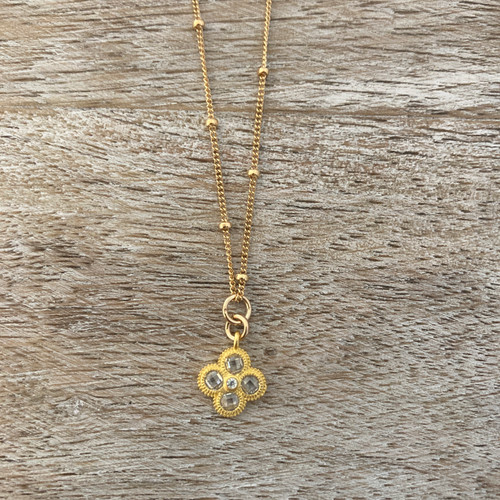 Gold Quatrefoil - Small