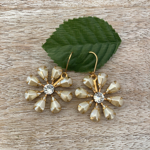 Vintage Pearl and Rhinestone Flower - 3