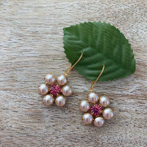 Vintage Pink Pearl Flower