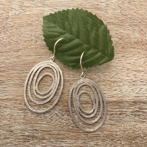 Swirls Oval - Silver